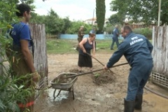 13 июля в результате проливных дождей было подтоплено около 50 частных домовладений в центральной части города Гал.